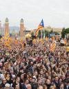 Catalanen betogen tegen politieke vervolging