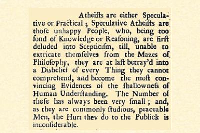 Mandeville over Atheïsten