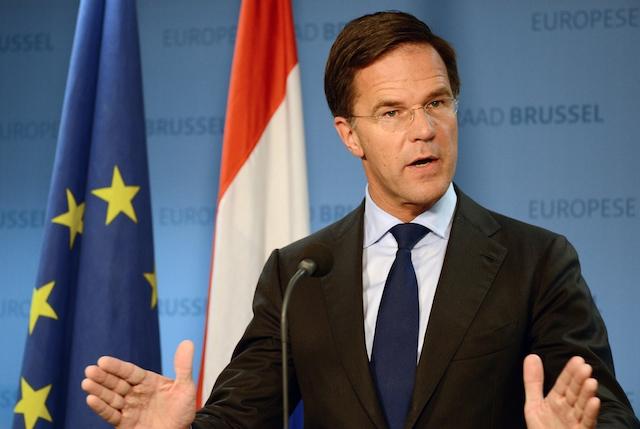 Nederlands minister-president Mark Rutte