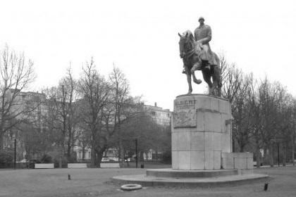 Albert Coburg te paard in het Zuidpark