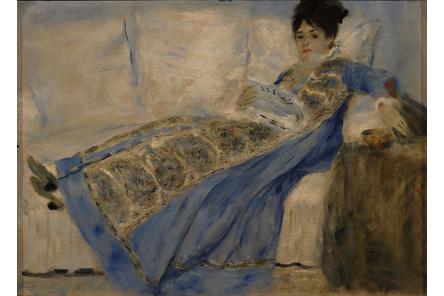 Madame Claude Monet lit Le Figaro (Renoir)