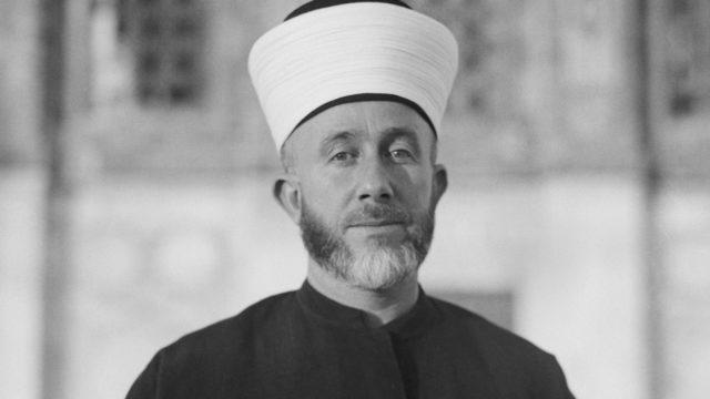 Groetmoefti van Jeruzalem Amin Al Husseini in 1929