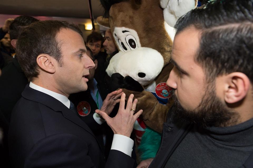 Emmanuel Macron en veiligheidsexpert Alexandre Benalla in betere tijden