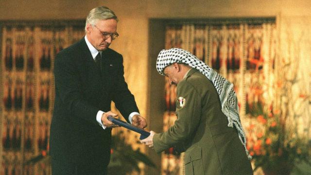 Joodse Yasser Arafat Shimon Peres
