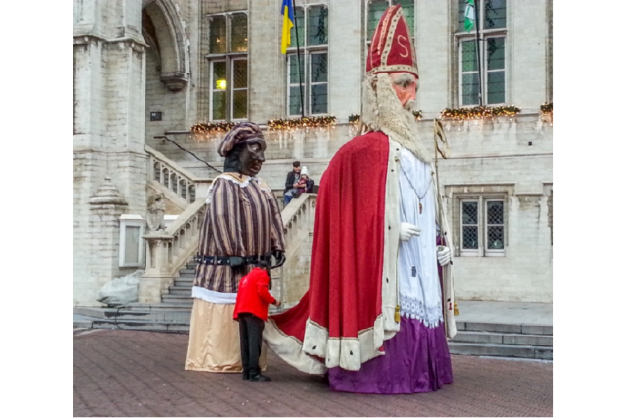 Sint en Piet in Sint Niklaas