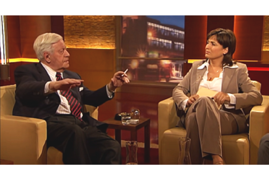 Helmut Schmidt bij Sandra Maischberger in 2007