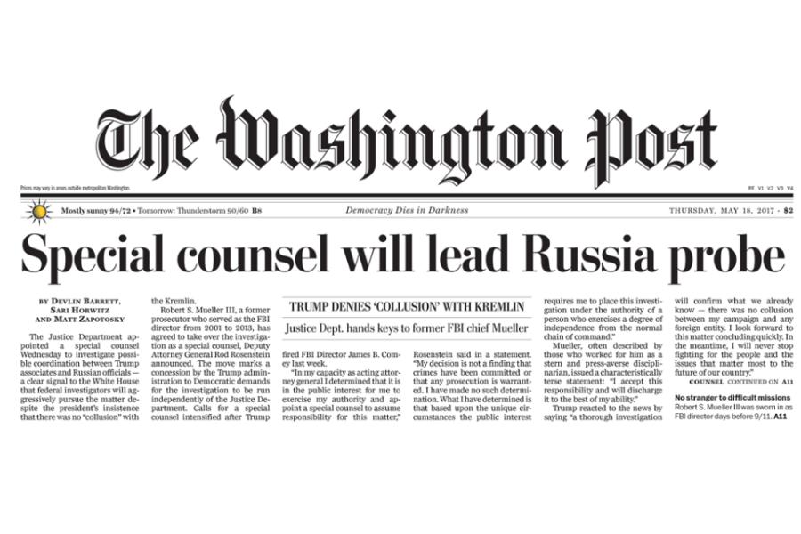 De aanstelling van Mueller in 2017
