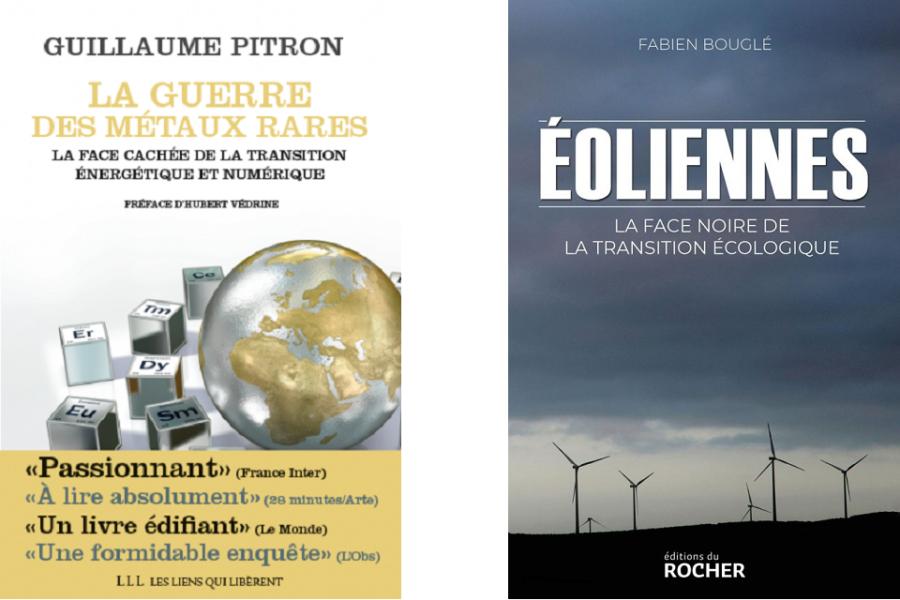 twee boeken over o.m. windturbines