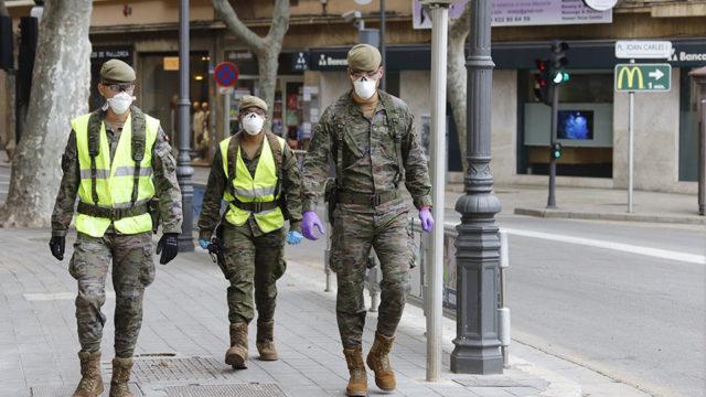 Controle in Spanje door politie en leger