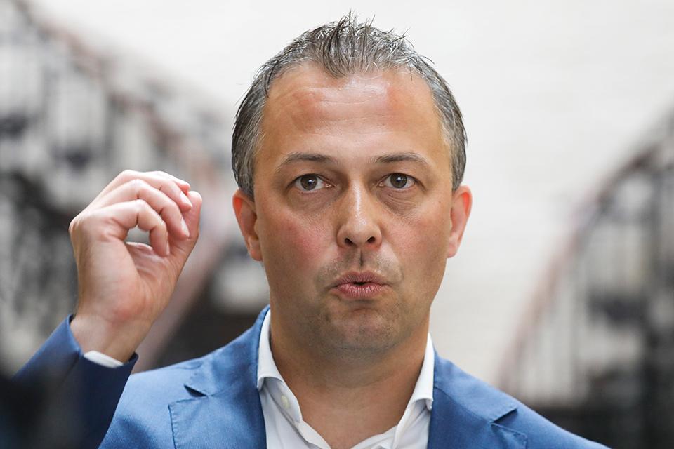 Egbert Lachaert, pas verkozen voorzitter van Open Vld