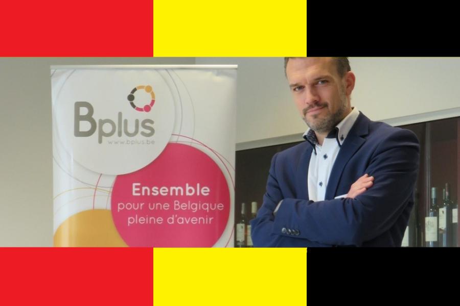 B Plus-logo op passende achtergrond